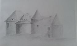 Château au crayon