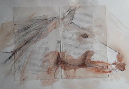 aquarelle sur collage