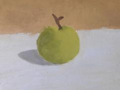 pomme - huile sur toile de Wojteck