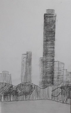 NY, travail au crayon