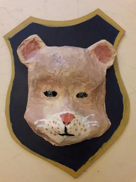 masque papier mâché de Constance