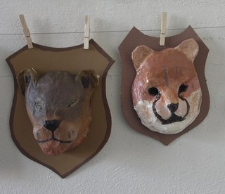 masques en papier maché