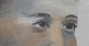 regard_ étude des yeux à l'huile