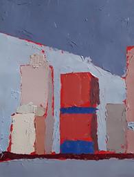 peinture à l'huile au couteau