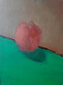pomme , huile sur toile