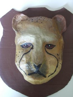 masque papier maché