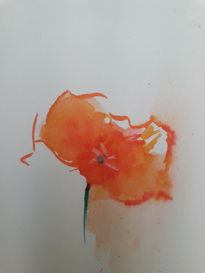 Fleur au feutre