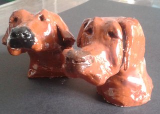 Modelage tête de chien