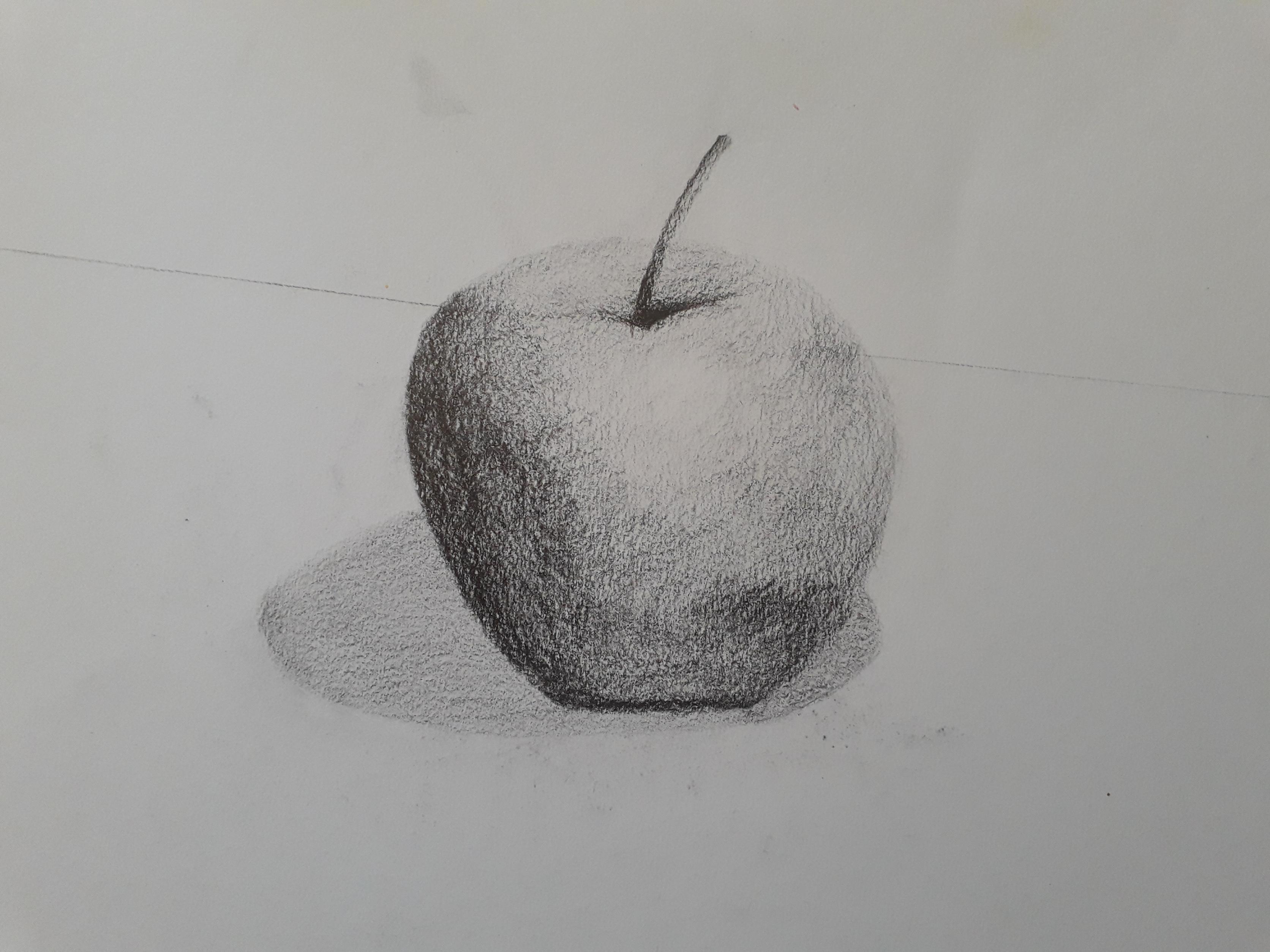 pomme au crayon