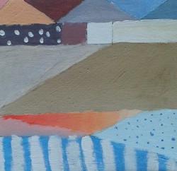 Palette colorée de Constance, huile