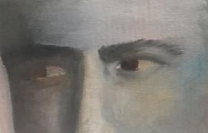 regard- peinture à l'huile