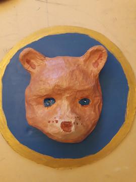 masque papier mâché de Bertille