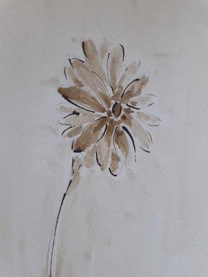 Fleur, encre