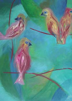 oiseaux composition, huile