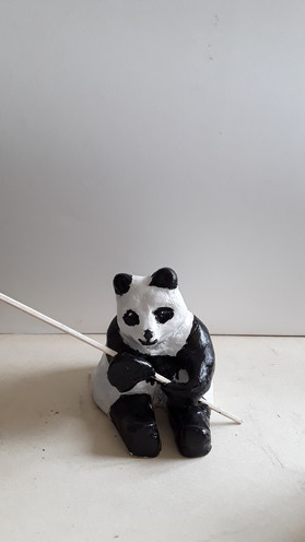 modelage panda argile
