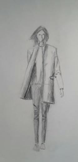 jeune fille, crayon
