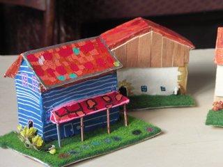 maisons papier maché
