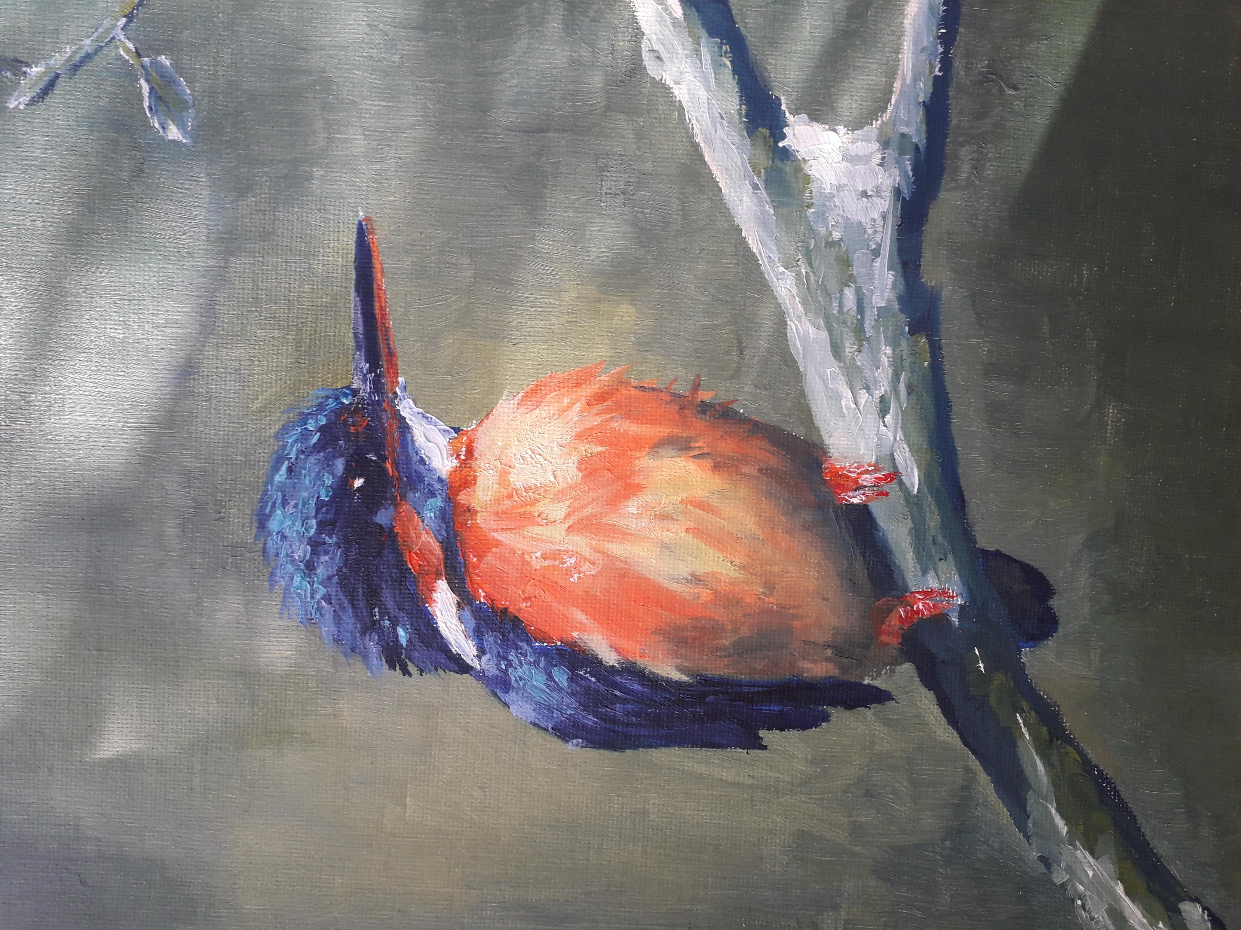 oiseau à l'huile
