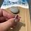 Thumbnail: Red bubble set seaglass ring size M