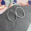 Thumbnail: Oval large stud earrings