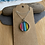 Thumbnail: Glass rainbow cabochon necklace