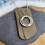 Thumbnail: Triple Textured Hoop Necklace