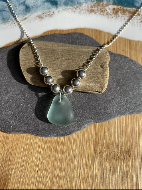 Seaglass beaded necklace