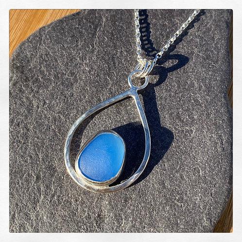 Teardrop seaglass necklace