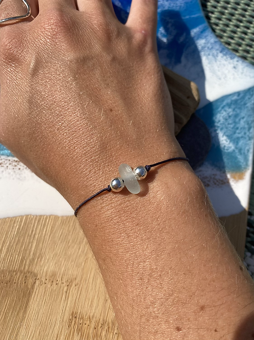 Seaglass friendship bracelet