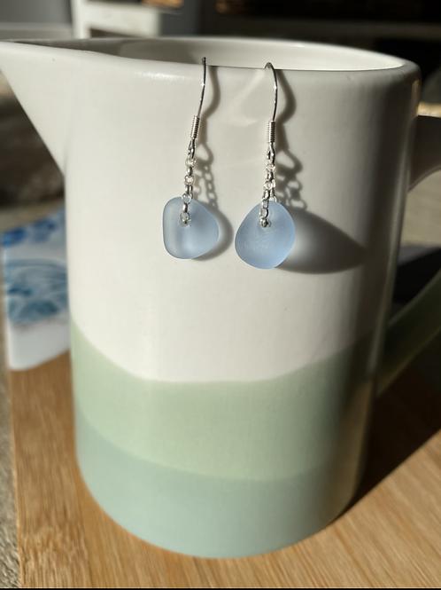 Seaglass drop earrings