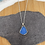 Thumbnail: Cornflower blue seaglass necklace