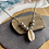 Thumbnail: Cowrie shell and silver beaded necklace
