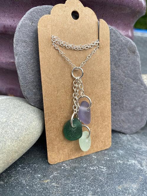 Seaglass drop necklace