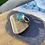 Thumbnail: Bright blue seaglass ring