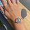 Thumbnail: Sterling silver and rainbow glass cuff bangle