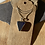 Thumbnail: Dark navy blue seaglass set pendant