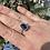 Thumbnail: Blue multi seaglass ring size O