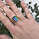 Thumbnail: Rainbow frosted glass ring size Q
