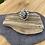 Thumbnail: Dalmatian jasper bubble set ring, Size N3/4