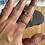 Thumbnail: Plain ball hammered Stacker ring