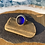 Thumbnail: Blue vintage set seaglass and silver ring