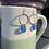 Thumbnail: Seaglass and hoop earrings
