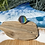 Thumbnail: Glass rainbow cabochon ring, size Q