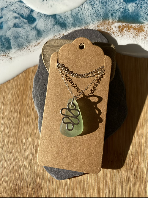 Seaglass and swirl necklace