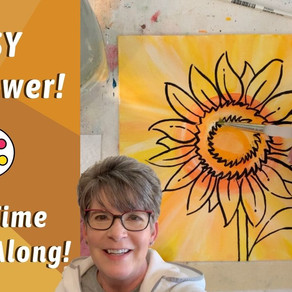 BEGINNER Sunflower Painting Tutorial!
