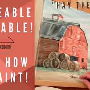 "Traceable for BEGINNERS Barn Painting! - ""Hay There"""