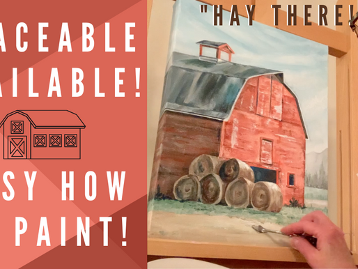 """Traceable for BEGINNERS Barn Painting! - """"Hay There"""""""
