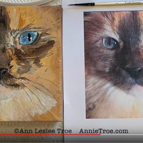 Isadora's Pet Portrait Process Photos