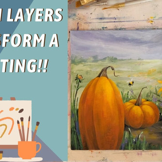 FUN Fall painting! No Drawing skill NEEDED! Pumpkins and Black Eyed Susans - Paint with Annie Troe