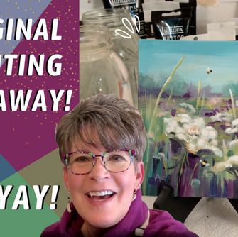 ORIGINAL PAINTING GIVEAWAY! Queen Anne's Lace Painting! By: Annie Troe